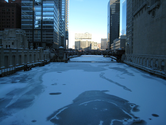 Steven S. Gearhart, Chicago River Frozen