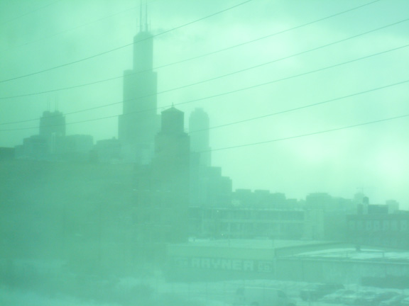Steven S. Gearhart, Chicago Sears Tower from the Metra